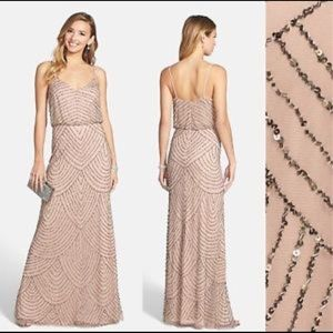 Adrianna Papell Beaded Blouson Gown - Worn Once